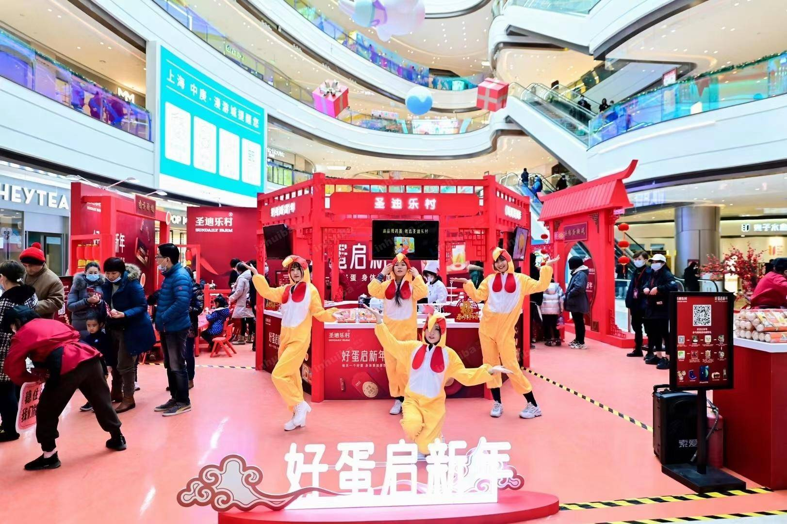 圣迪乐村鸡蛋品宣推广-上海中庚漫游城
