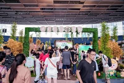 东台黄海国家森林公园上海推介活动-上海五角场下沉式广场